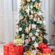 Christmas tree in modern interior living room — Stock Photo #59283709