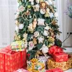 Christmas tree in modern interior living room — Stock Photo #59283711