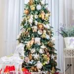 Christmas tree in modern interior living room — Stock Photo #59283713