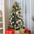 Christmas tree in modern interior living room — Stock Photo #59283715
