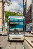 Modern  city tram — Stockfoto