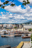 Oslo skyline and harbor — Stock Photo