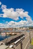 Oslo skyline and harbor — Foto de Stock