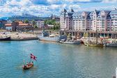 Oslo skyline and harbor — Stock Photo