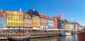Ünlü Nyhavn bölgesi — Stok fotoğraf