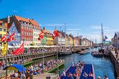 Famous Nyhavn district — Stock Photo