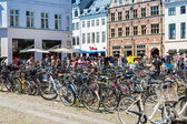 Many bicycles parked — Stock Photo