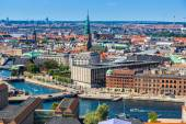 Город Копенгаген, Дания — Стоковое фото