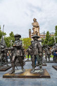 Rembrandt statue on  in Amsterdam — Stock Photo