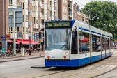 Modern tram in Amsterdam — Foto Stock