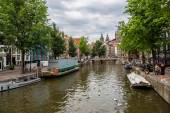 Canal and St. Nicolas Church — Stock Photo
