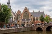 Old Church in Amsterdam — Stock Photo