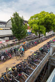 Parking for bikes in Amsterdam — Stock Photo