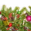 Christmas background with balls and decorations — Stock Photo #59883659