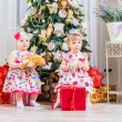 Girls with christmas presents — Stock Photo #59884241