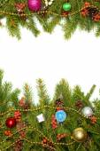 новогодний фон. ева рамки — Стоковое фото