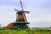 Wind mill in Holland — Stock Photo