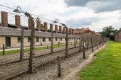 Concentration camp Auschwitz — Stock Photo