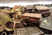 Bags of victims in Auschwitz — Stock Photo