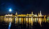 Dresden at night — Φωτογραφία Αρχείου