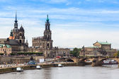 Panoramic view of Dresden — Стоковое фото