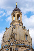 Dresden and Frauenkirche church — Fotografia Stock