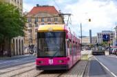 Modern tram in Dresden — Foto de Stock