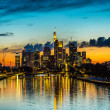 Frankfurt am Main during sunset — Stock Photo #61583495