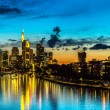 Frankfurt am Main during sunset — Stock Photo #61583515