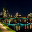 Frankfurt am Main during sunset — Stock Photo #61583567