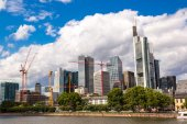 Financial district in Frankfurt — Stock Photo