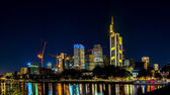 Frankfurt am Main at night — Stock Photo