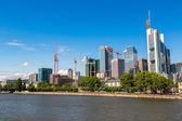 Financial district in Frankfurt — Stock Photo