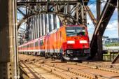 Electric locomotive in Frankfurt — Stock Photo