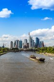 Financial district in Frankfurt — Stockfoto