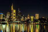Frankfurt am Main during sunset — Stock Photo