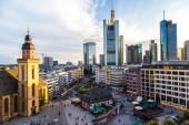 Aerial view of Frankfurt — Stock Photo