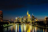 Frankfurt am Main at night — Stock Photo