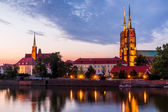 Wroclaw at night — Stock Photo