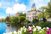 Amsterdam canals and  boats — Stock Photo