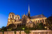 在巴黎的巴黎圣母院大教堂 — 图库照片