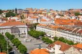 вид с воздуха на лиссабон — Стоковое фото