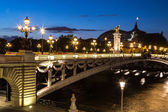 Bridge of the Alexandre III in Paris — Stock Photo