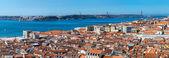 Panoramic view of Lisbon — Stock Photo