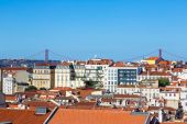 Aerial view of Lisbon — Foto de Stock