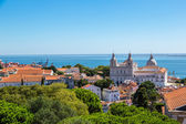 Lizbon havadan görünümü — Stok fotoğraf
