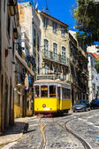 Lizbon vintage tramvay — Stok fotoğraf