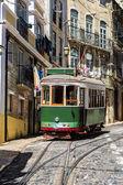 Vintage Lisbon tram — Stock Photo
