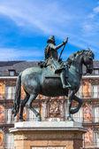 Statue of Philip III  in Madrid — Stockfoto