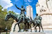Don Quixote and Sancho Panza  in Madrid — Stock Photo